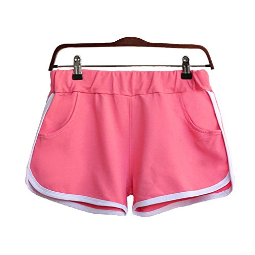 Clearance Sale!FarJing New Women Summer Pants Sports Shorts Gym Workout Waistband Skinny Yoga Short(L,Pink )