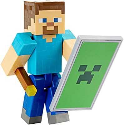 Minecraft Steve with Shield Basic Figure by Mattel