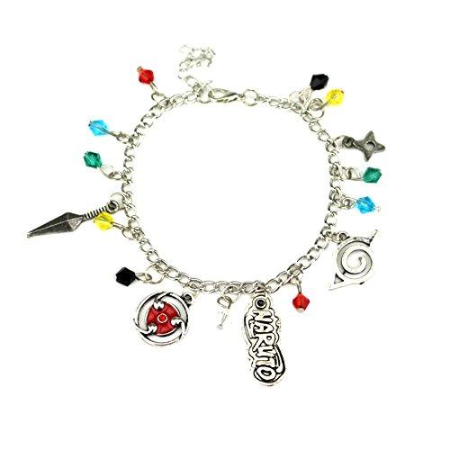 Naruto Charm Bracelet Quality Cosplay Jewelry Anime Manga Series with Gift Box