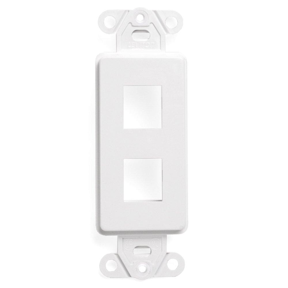 Leviton 41642-W QuickPort Decora Insert, 2-Port, White