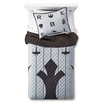 Star Wars Rebel Full/Queen Quilt and Shams Set black/grey by Jay Franco