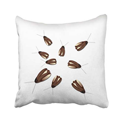 Accrocn Creepy Cockroaches Gross Halloween Decorations Throw Pillow Covers Cushion Cover Case 18x18 Inches Pillowcases One (Gross Halloween Games Touch)