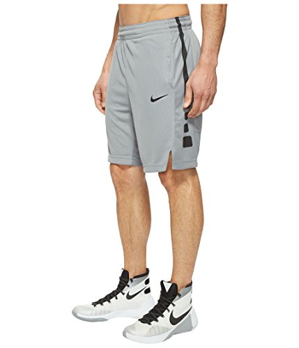 Nike Mens Elite Stripe Basketball Shorts Cool Grey/Black 831390-065 Size X-Large