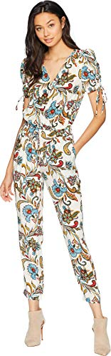 Angel Paisley (Juicy Couture Women's Ornate Floral Paisley Silk Jumpsuit Angel Ornate Floral Large)
