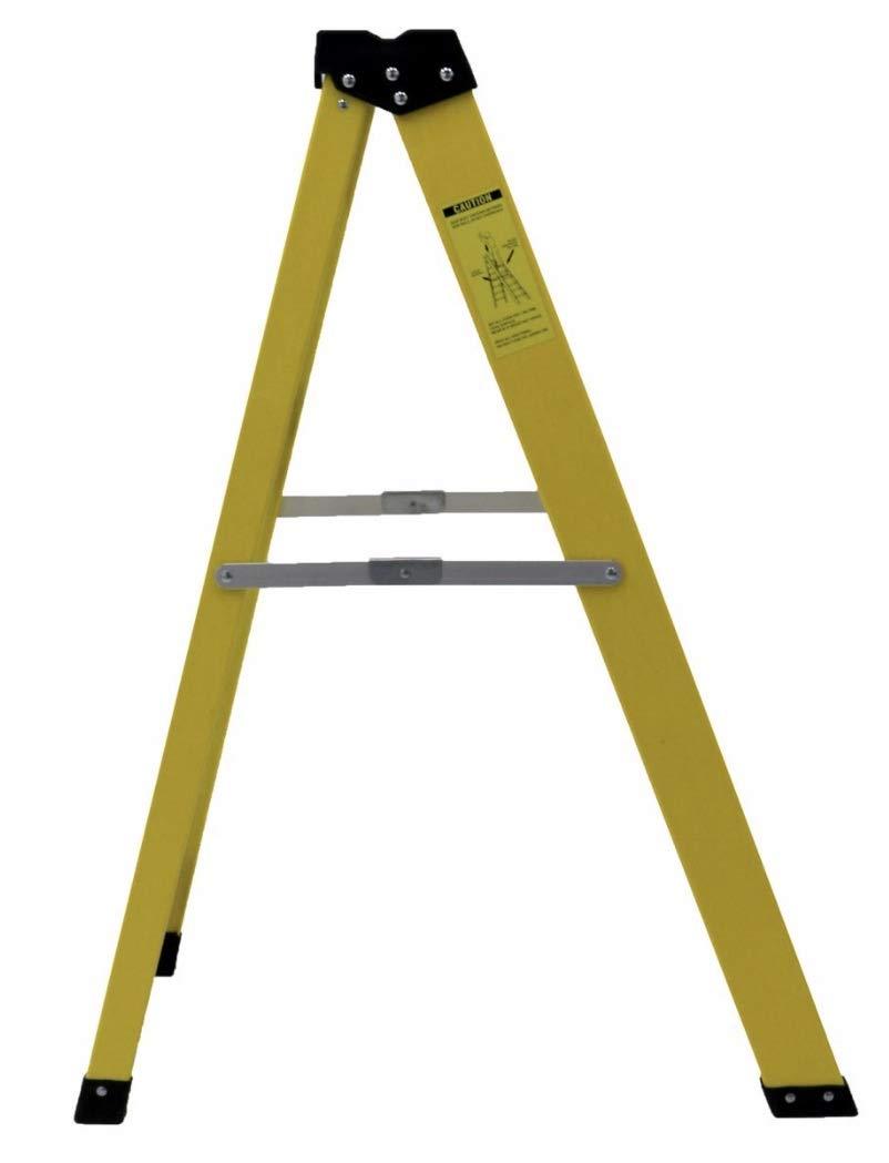 Calibre de fibra de vidrio 4 Escalera de tramos Escalera de paso para electricistas de servicio pesado de grado profesional de 30,000 V nominal: Amazon.es: Bricolaje y herramientas
