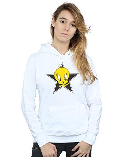 Looney Tunes Women's Tweety Pie Star Hoodie X-Large - Hoodie Tweety