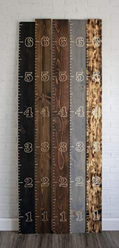 Hand Engraved Wooden Growth Chart Oversized Kids Ruler