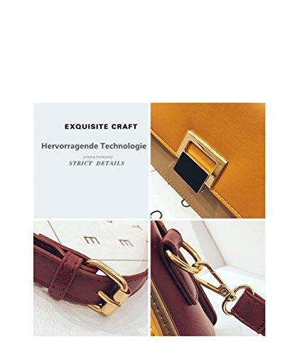Amarillo Bolsos Bolso De de Moda Bolso cuero bandolera Pequeño bolso mensajero Mujer de Hombro UqBxOCnq