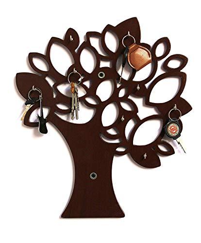 Simran Handicrafts Wooden MDF Tree Key Wall Holder || Wooden Key Holder || Decorative Key Hanger Wall Shelf