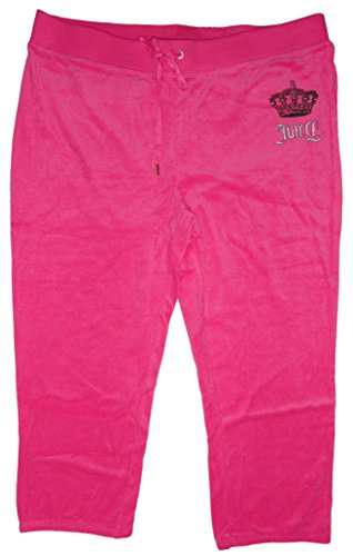 Juicy Couture Womens Velour Crown Logo Sweatpants Knockout Pink (X-Large) (Velour Pants Couture Juicy Lounge)