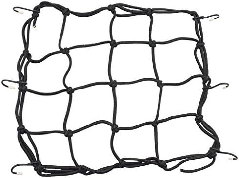 Motorcycle Helmet Net Bungee Luggage Cargo Net with Hooks Elasticated Stretchable for Motorcycles Motorbike ATVs Bikes Cars Trucks Black