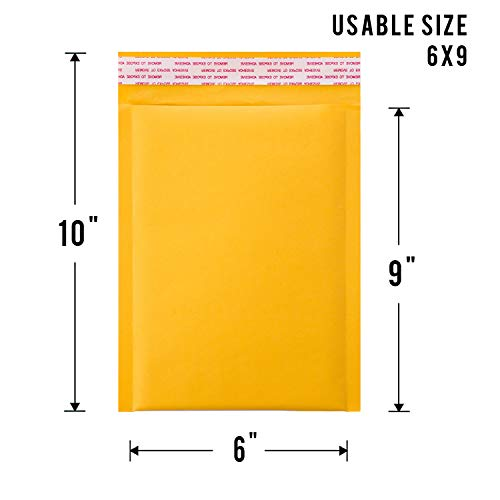 KKBESTPACK #0 25 6x10 inches Kraft Bubble Mailers Padded Shipping Envelopes