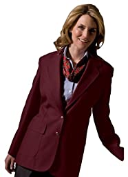 Ed Garments Women\'s Two Button Single Breasted Blazer, BURGUNDY, 16