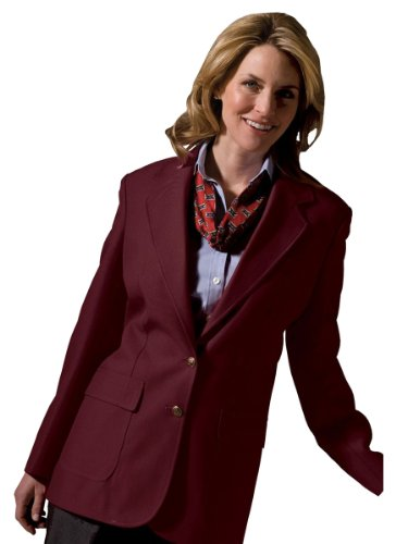 Edwards Women's Two Button Single Breasted Blazer, Burgundy, 18 T