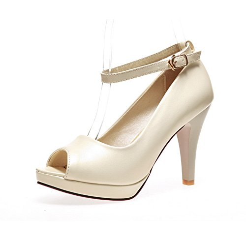 Inconnu 1TO9, Bout Ouvert Femme - Beige - Beige, 36.5