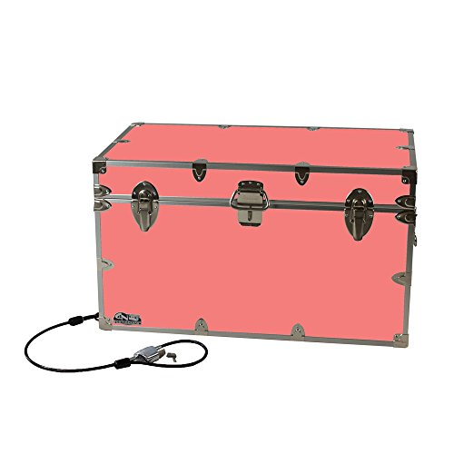 College Dorm Room & Summer Camp Lockable Trunk Footlocker with Cable Lock - Graduate Trunk by C&N Footlockers - Available in 20 colors - Extra-Large: 32 x 18 x 18.5 - Stores Clothing Key West
