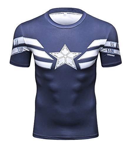 Triv Men's Compression Captain America Workout