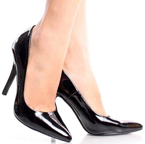 Heerlijke Date-h Pumps Schoenen Zwart Patent