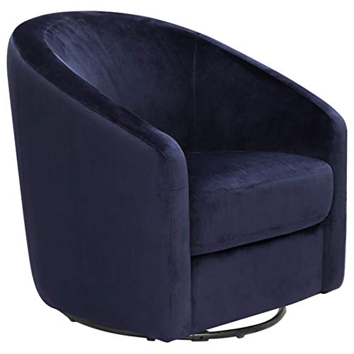 Babyletto Madison Swivel Glider, Navy Blue Microsuede Fabric
