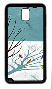 galaxy note 3 case,custom samsung galaxy note 3 case,TPU (Rubbber) Material,Drop Protection,Shock Absorbent,black case,The bird cover (hand-painted)