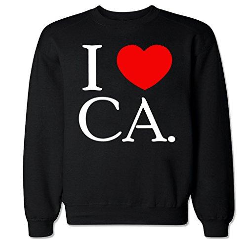 FTD Apparel Men's I Love CA Crew Neck Sweater - XXL - Shops Downtown Disneyland