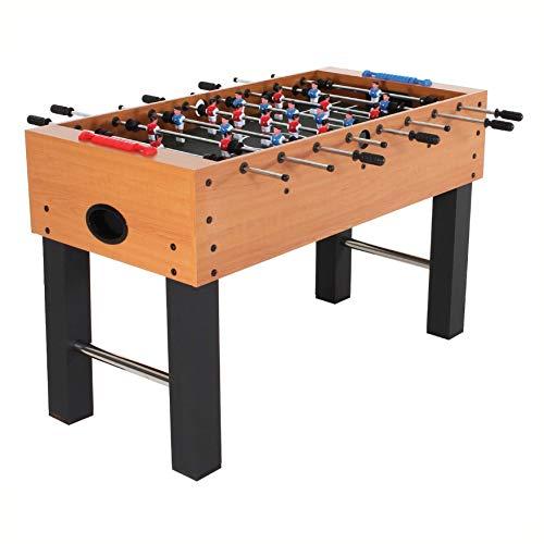 - HEATAPPLY Foosball Table, Classic Foosball Table with Abacus Scoring and Internal Ball Return