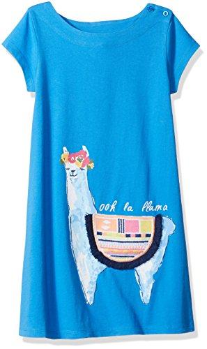 Spotted Zebra Big Girls' Knit Short-Sleeve A-Line T-Shirt Dresses, Llama, Medium (8) ()