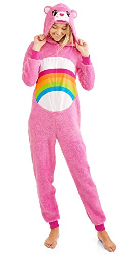 Care Bear Cheer Pink Women's Union Suit Pajama Costume (XL 16/18)