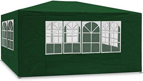 Maxx 3 x 4 m Carpa Pabellón Jardín Resistente al agua cerveza tienda estructura de acero con gruesa Acero Varillaje camping playa Adecuado se puede cerrar por completo) verde: Amazon.es: Jardín