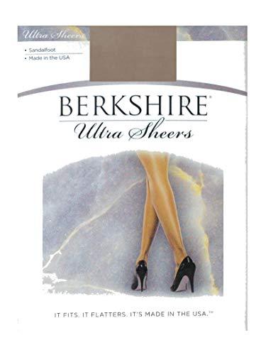 Berkshire Women's Ultra Sheer Non-Control Top Pantyhose - Sandalfoot 4408, Stone, Size 1 ()