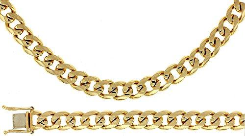 Or jaune 14 carats 8,5 mm Lien Bracelet Gourmette JewelryWeb 8,5 cm