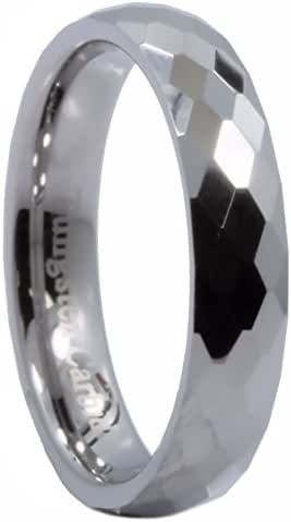 MJ Metals Jewelry 3, 4, 6, or 8mm Honeycomb Pattern Tungsten Carbide Band