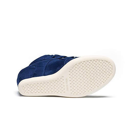 Heels Keile Outdoor Klettverschluss Unsichtbare Booties Blau Damenmode Innere Damen LIANGXIE Casual Heels High Wedges xgtqUUa