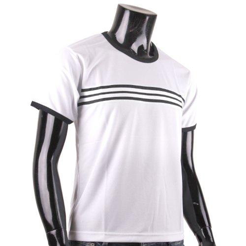 BCPOLO Herren L?ssig Striped T-Shirt 'Wei©¬'