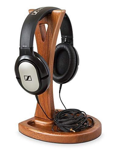 (Wooden Headphone Stand - Headset Holder – Wood Headset Hanger - Gaming Headset Stand - Headphone Rack - Mount for All Headphone Display)