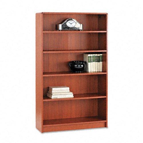 (HON 1890 Series Bookcase, 5 Shelves, 36 W 11-1/2 D 60-1/8 H, Henna Cherry)