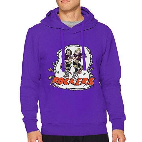 Sbbiegen886wo Men's The Rockers Shawn Michaels Retro Wrestling Breathable Hoodies Hooded Sweatshirt XXL Purple ()