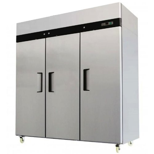 77.8' 3 Door Commercial Grade Stainless Steel Reach In Freezer, 69.2 Cubic Feet, MBF-8003 MCP-Distributions