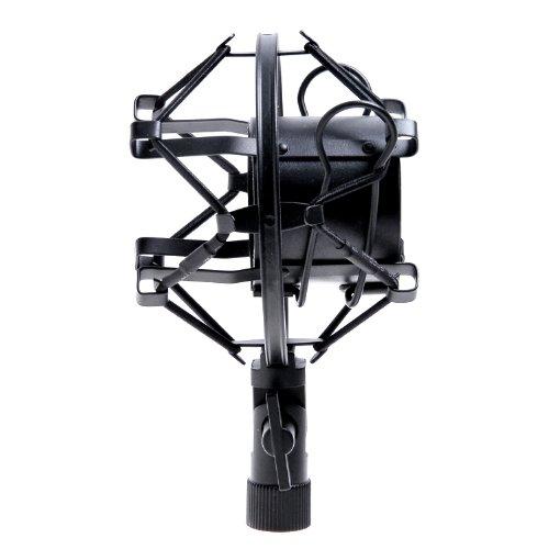 "1set Black Microphone Mic Shock Mount Fits Many Mxl, Ev Mics & More (1 5/8 - 1 7/8"") Shockmount"