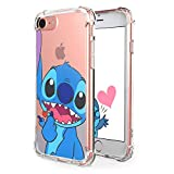 Logee Sweet Stitch TPU Cute Cartoon Clear Case for iPhone 6/6S 4.7',Fun Kawaii Animal Soft Protective Cover,Ultra-Thin Shockproof Funny Creative Character Chic Cases for Kids Teens Girls Boys(iPhone6