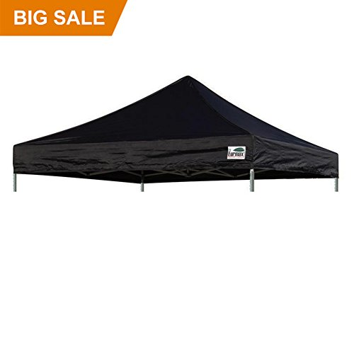 Eurmax New Pop up 10×10 Replacement Instant Ez Canopy Top Cover Choose 15 Colors (Black)