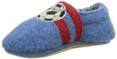 Giesswein Boll - Zapatos primeros pasos de lana para niño azul - Blau (capriblau)
