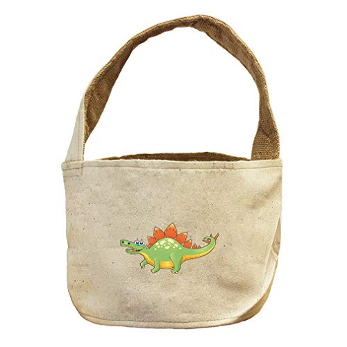 Style in Print Dinosaur Short Fat Animals Canvas and Burlap Storage Basket by Style in Print