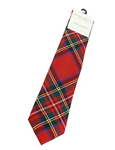 (Lochcarron Irish Necktie Royal Stewart Tartan 56