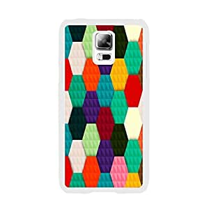 Colorful Protective Phone Cases - Vivid Color Print Ultra Thin Hard Plastic Case Cover for Samsung Galaxy S5 I9600 Cute Phone Case (colorful geometric BY634)