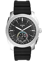 Q Men's Machine Black Silicone Hybrid Smartwatch FTW1164