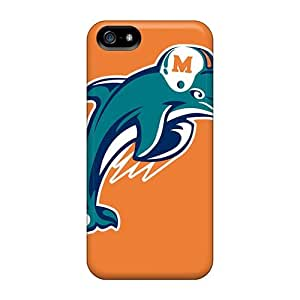 Great Hard Phone Cases For Iphone 5/5s (wfM4526oaUq) Support Personal Customs Realistic Miami Dolphins Skin