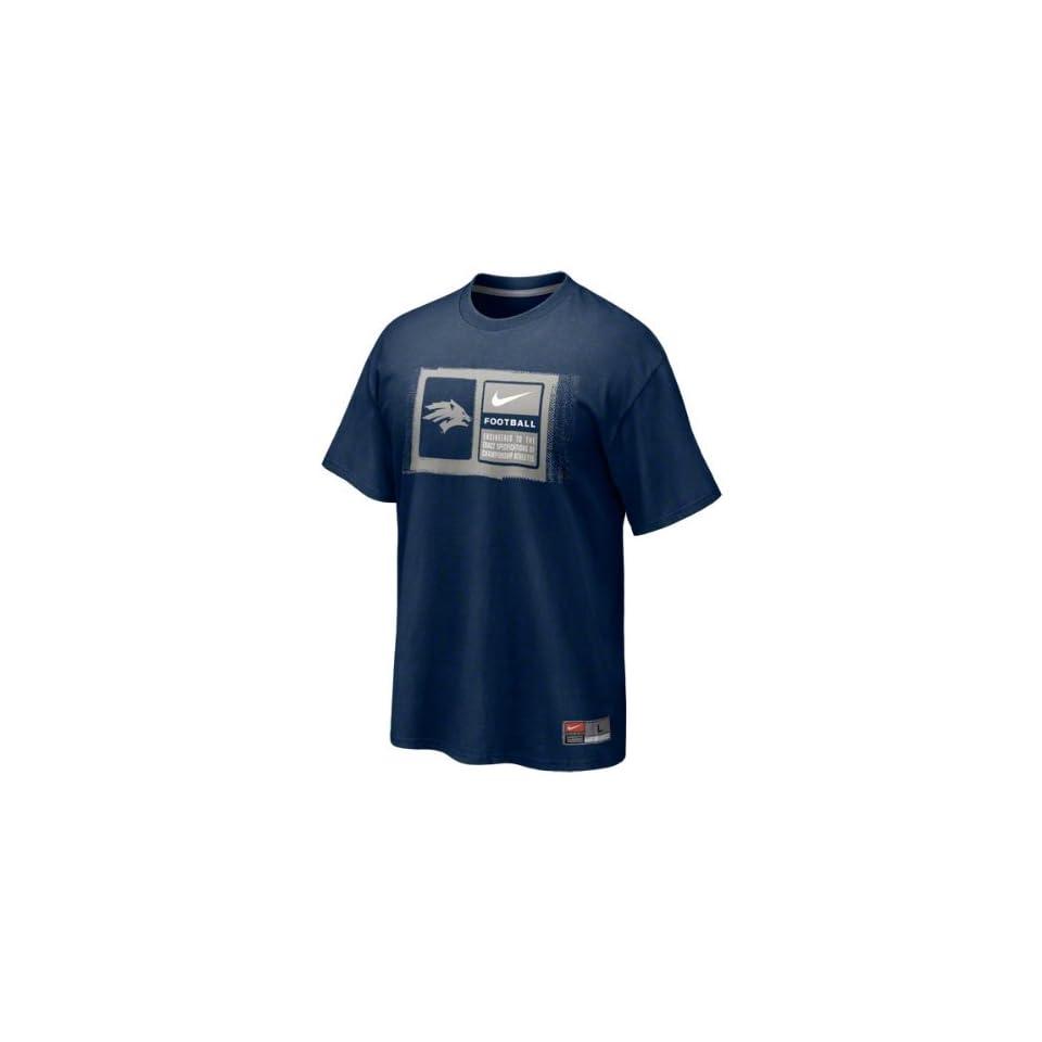 Nevada Wolf Pack Navy Nike 2011 Football Sideline Team