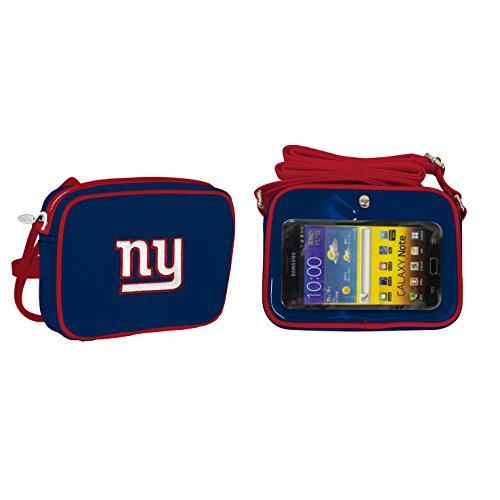 NFL New York Giants Fashion Style Crossbody Purse- Embroidered Logo ()