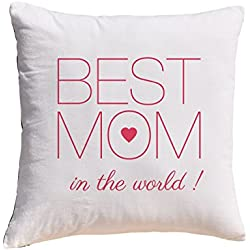Best Mom in the world Prints 100% Cotton Decorative Throw Pillows Cover Cushion Case